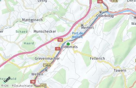 Stadtplan Temmels