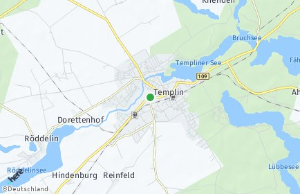 Stadtplan Templin