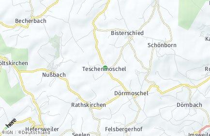 Stadtplan Teschenmoschel