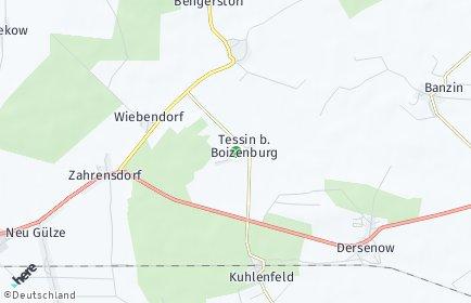 Stadtplan Tessin bei Boizenburg