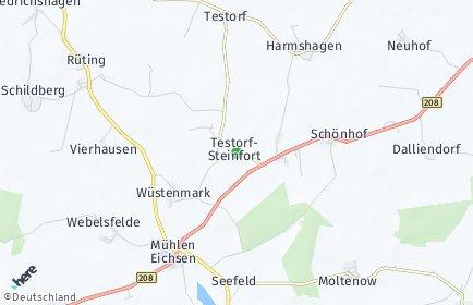 Stadtplan Testorf-Steinfort