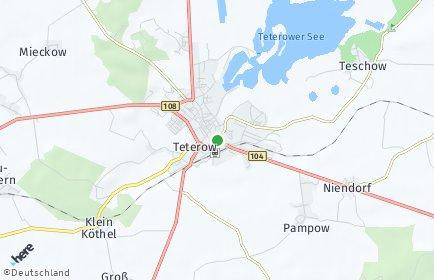 Stadtplan Teterow