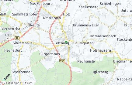 Stadtplan Tettnang