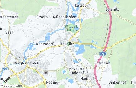 Stadtplan Teublitz OT Kuntsdorf
