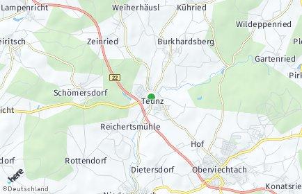 Stadtplan Teunz