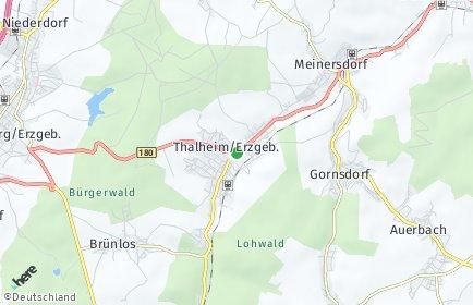 Stadtplan Thalheim/Erzgebirge