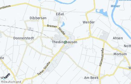 Stadtplan Thedinghausen OT Horstedt