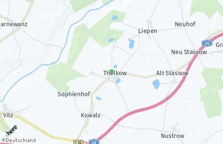 Stadtplan Thelkow