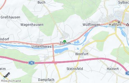 Stadtplan Theres