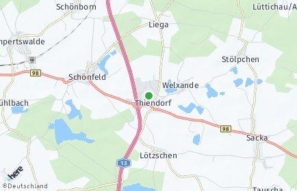 Stadtplan Thiendorf OT Tauscha