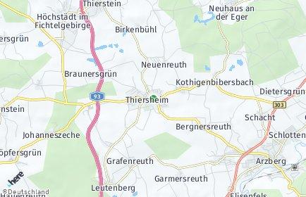 Stadtplan Thiersheim