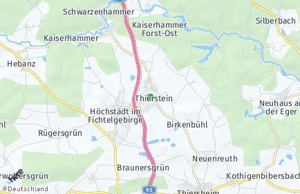 Stadtplan Thierstein