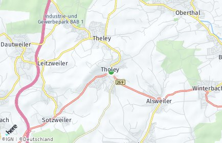 Stadtplan Tholey