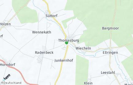 Stadtplan Thomasburg