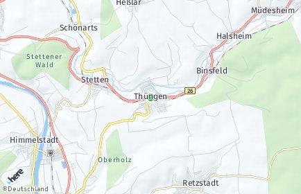 Stadtplan Thüngen