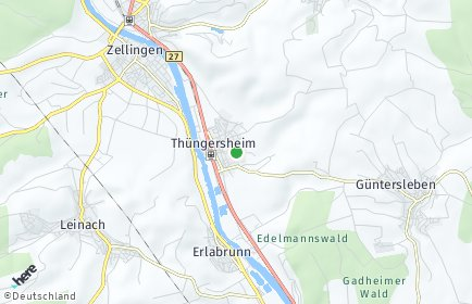 Stadtplan Thüngersheim