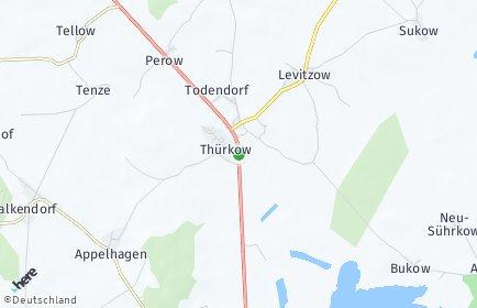 Stadtplan Thürkow
