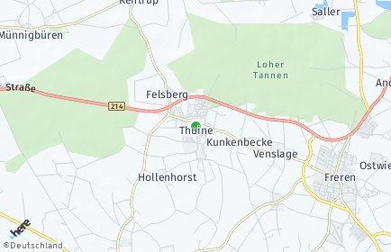 Stadtplan Thuine