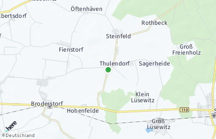 Stadtplan Thulendorf