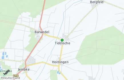 Stadtplan Tiddische