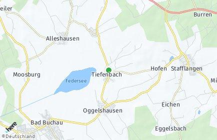 Stadtplan Tiefenbach (Federsee)