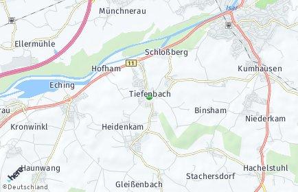 Stadtplan Tiefenbach bei Landshut