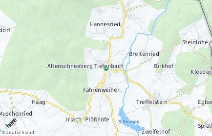 Stadtplan Tiefenbach (Oberpfalz) OT Katzelsried