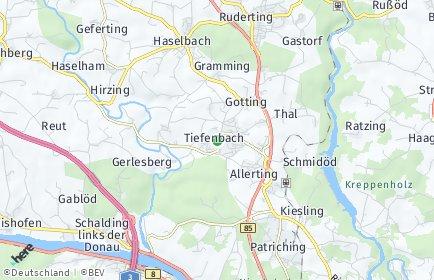 Stadtplan Tiefenbach bei Passau OT Ranzing