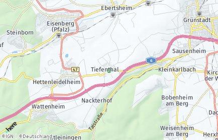 Stadtplan Tiefenthal (Pfalz)