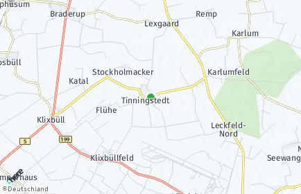 Stadtplan Tinningstedt
