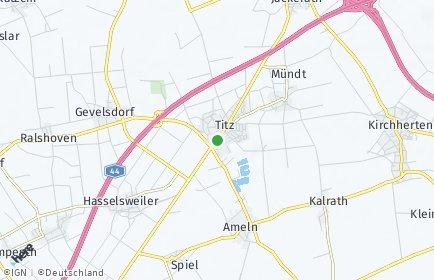 Stadtplan Titz