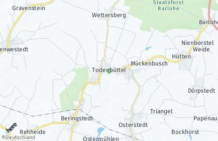 Stadtplan Todenbüttel