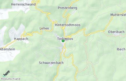 Stadtplan Todtmoos OT Rütte