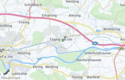 Stadtplan Töging am Inn