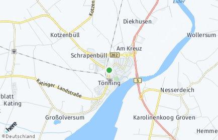 Stadtplan Tönning