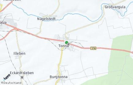 Stadtplan Tonna OT Burgtonna
