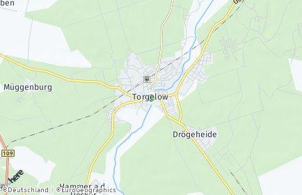 Stadtplan Torgelow