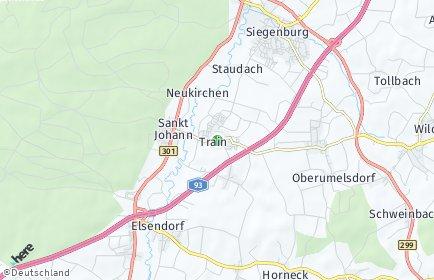 Stadtplan Train