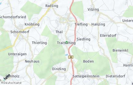 Stadtplan Traitsching OT Hermannsgrub