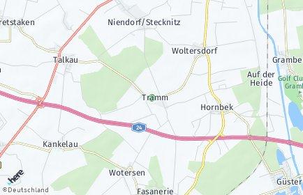 Stadtplan Tramm (Lauenburg)