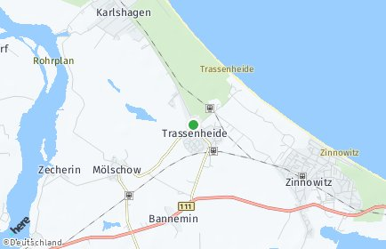 Stadtplan Trassenheide