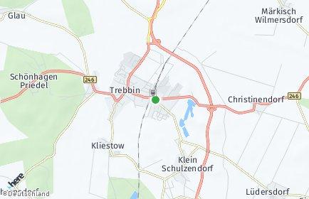 Stadtplan Trebbin