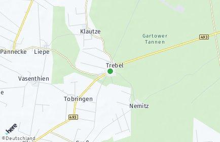 Stadtplan Trebel OT Klautze