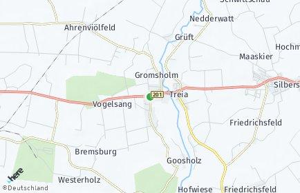 Stadtplan Treia