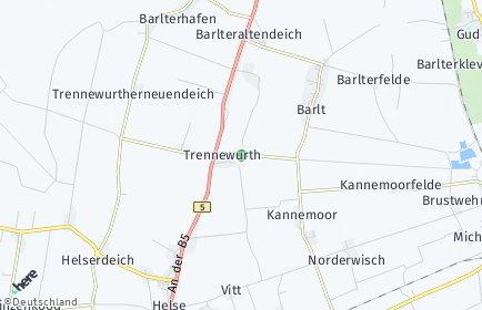 Stadtplan Trennewurth