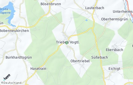 Stadtplan Triebel (Vogtland)