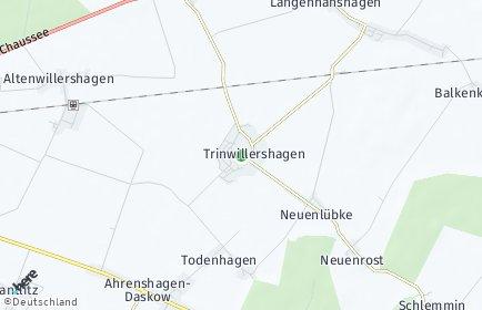 Stadtplan Trinwillershagen