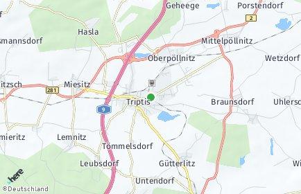 Stadtplan Triptis