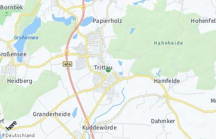 Stadtplan Trittau