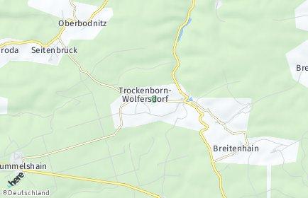 Stadtplan Trockenborn-Wolfersdorf